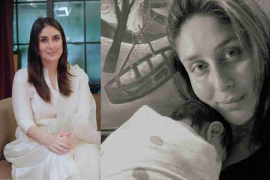bollywood actress kareena kapoor khan shares her new baby first photo on social media 730X365